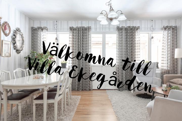 Vardagsrum på Villa Ekegården
